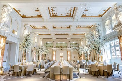 Kimpton Fitzroy London Wedding Venue Ballroom Reception