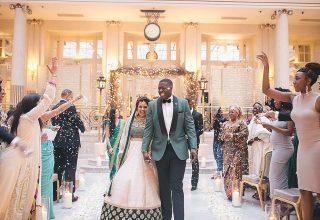 The Waldorf Hilton Wedding Venue, Palm Court, Photography by Vitae Weddings