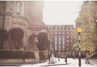 The Langham Wedding Venue, Outside Entrace, Photography by Nick Rose