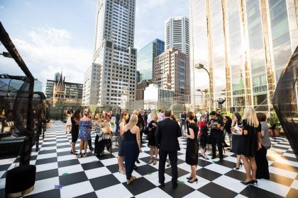 Grand Hyatt Melbourne Networking Event, Outside terrace