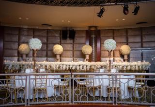 Head table white and gold wedding decor Park Hyatt Melbourne wedding