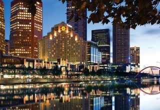 The Langham Melbourne, Luxury Wedding and Events Venue, View of Southbank and City by Night