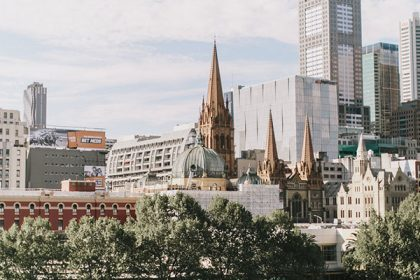 View of Flinders St from Metropolis Events Luxury Wedding and Event Venue Melbourne