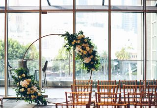 Wedding Ceremony at Metropolis Events Luxury Event Venue Melbourne