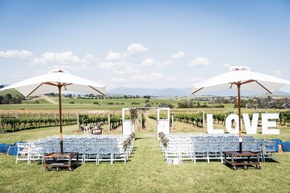 Acacia Ridge Winery Wedding, Ceremony, Yarra Glen, Melbourne