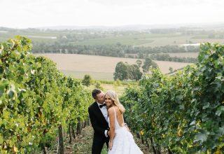 Levantine Hill gorgeous winery wedding photo by Erin & Tara vineyards