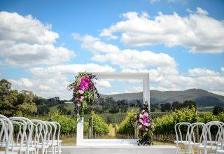 Yarra Valley Wedding Ceremony Location Overlooking Vineyards