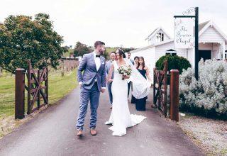 Chapel wedding at Fergusson Winery, Yarra Valley wedding venue