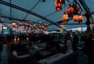 Ham Yard Hotel Private Party, Rooftop Terrace, Photography by Damion Mower