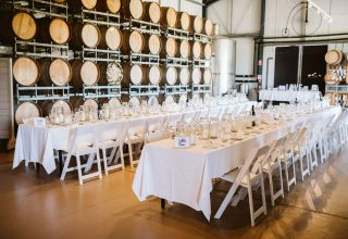 Fergusson Winery Private Party, Barrel Room