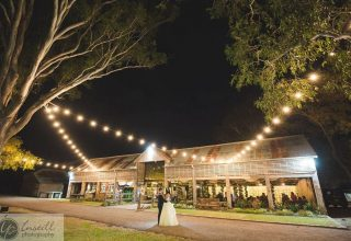 Belgenny Farm Wedding at Night with Bistro Lights, Photo by Instill Photography