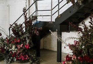 Gather & Tailor -Gather-Tailor-staircase-in-bold-pink-flowers-Photo-by-Gold-and-Grit.jpg