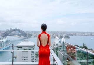 InterContinental-Sydney-Rooftop-Chinese-Weddings-Red-Dress