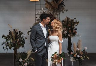 Gather & Tailor -Wedding-couple-ceremony-altar-upstairs-Gather-Tailor-Melbourne-Photo-by-Art-of-Grace.jpg