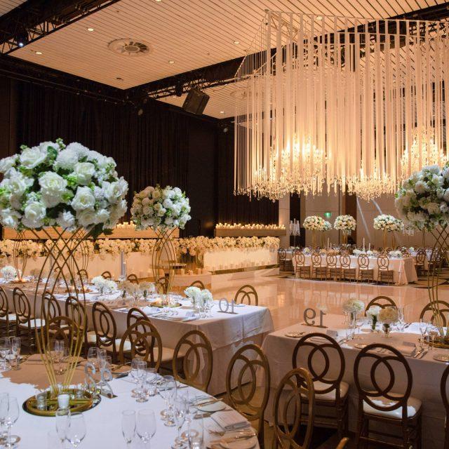 Wedding reception at ivy Ballroom by Merivale, luxury wedding venue Sydney